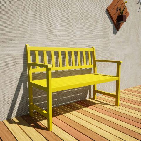 Banco de Jardim Ms Colors - Amarelo Estrada