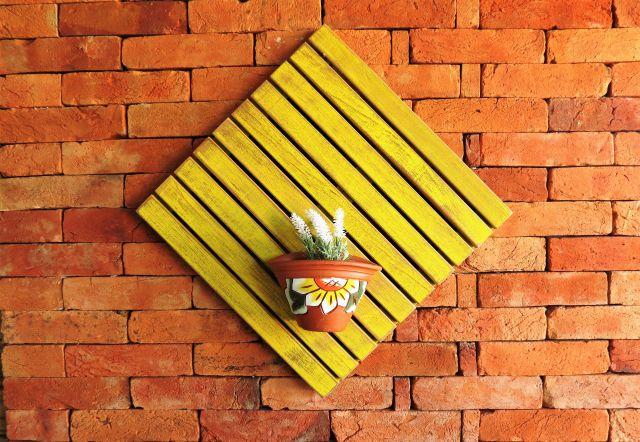 Deck Painel 50x50cm MS Pátina - Amarelo