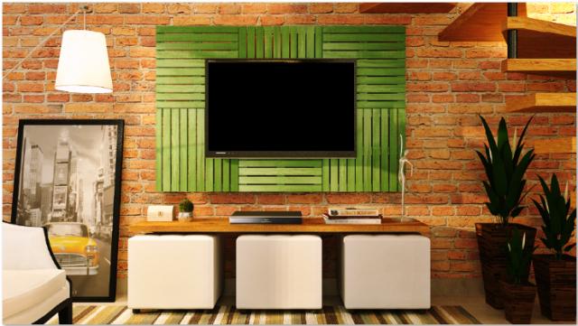 Deck Painel colorido 50x50cm - Verde Folha (Placa).