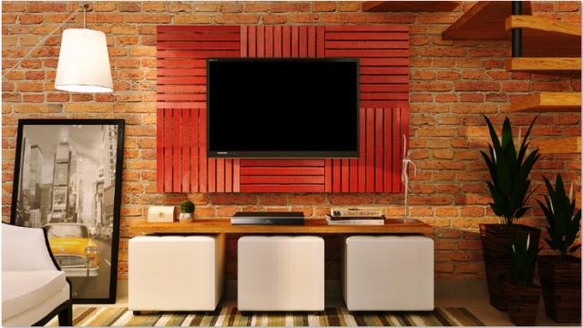 Deck Painel colorido 50x50cm - Vermelho Tomate Seco (Placa).