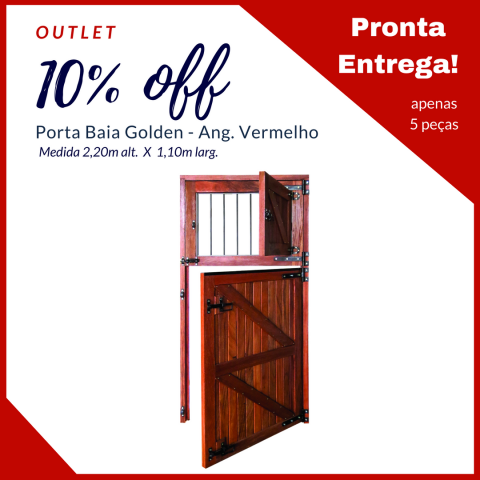 Porta Baia Golden - Angelim Vermelho - 2,20m Alt. X 1,10m Larg.