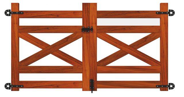 Portão de Madeira Peroba - MS Austin