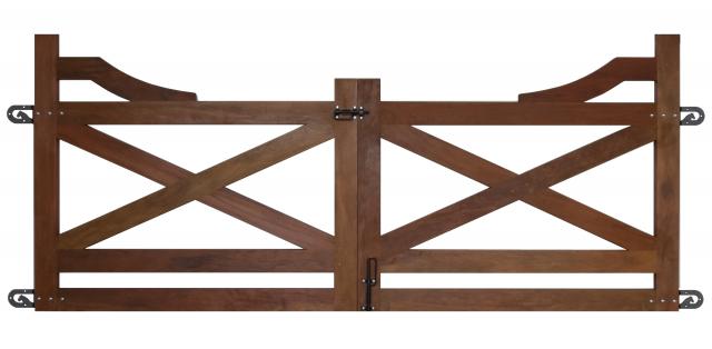 Portão de Madeira Peroba - MS Texas original