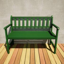 Banco de Jardim Ms Colors - Verde Folha