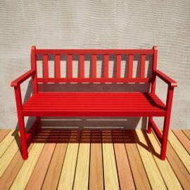 Banco de Jardim Ms Colors - Vermelho Tomate Seco