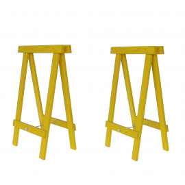 Cavalete Prático Amarelo - Kit 2 peças