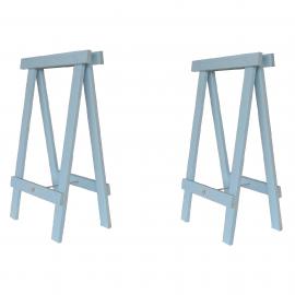 Cavalete Prático Azul Pastel - Kit 2 peças