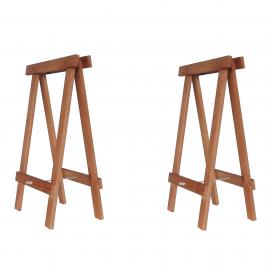 Cavalete Prático Marrom - Kit 2 peças