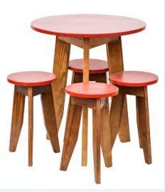 Conjunto Mesa e Banquetas MS Colors - Vermelho Tomate Seco