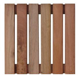 Deck Comercial Eucalipto Base de madeira 30x30cm (Placa)