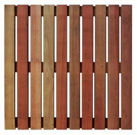 Deck Comercial Eucalipto Base de madeira 50x50cm (Placa)