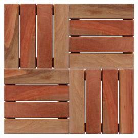 Deck Modular 30x30cm Euca7 Natural (Placa)