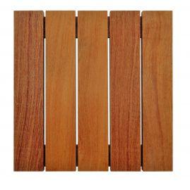 Deck Modular 50cm X 50cm Cumarú (placa)