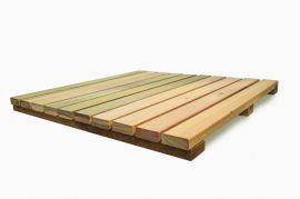 Deck Modular 50cm X 50cm Eucalipto (placa)