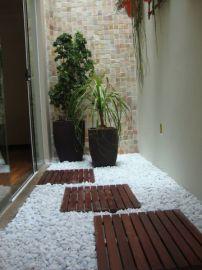 Deck Modular 50cm X 50cm Padrão Imbuia (placa) Jardim Inverno