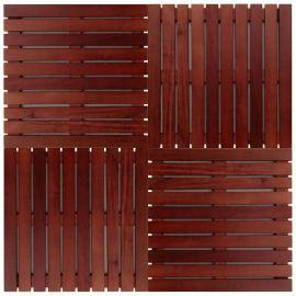 Deck Modular 50cm X 50cm Padrão Imbuia (placa)