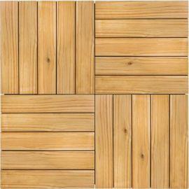Deck Modular 50cm X 50cm Pinus Tratado (placa)