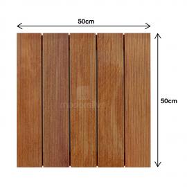 Deck Modular 50x50cm Cumarú Frisado - Medidas