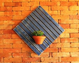 Deck Painel 50x50cm MS Pátina - Azul