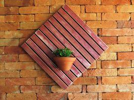 Deck Painel 50x50cm MS Pátina - Vermelho