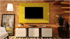 Deck Painel colorido 50x50cm - Amarelo Estrada (Placa)