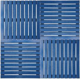 Deck Painel colorido 50x50cm - Azul Del Rey (Placa) montado