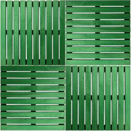 Deck Painel colorido 50x50cm - Verde Folha (Placa) montado
