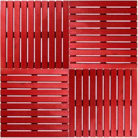 Deck Painel colorido 50x50cm - Vermelho Tomate Seco (Placa) montado