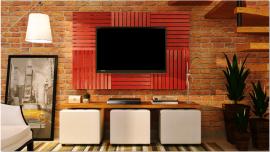 Deck Painel colorido 50x50cm - Vermelho Tomate Seco (Placa)
