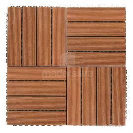 Deck Prático Cumarú Frisado 30x30cm - agrupado