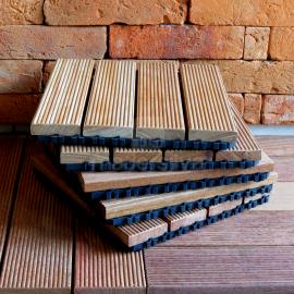 Deck Prático Cumarú Frisado 30x30cm - detalhes 2