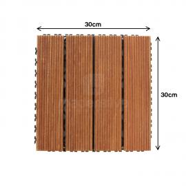 Deck Prático Cumarú Frisado 30x30cm - medidas