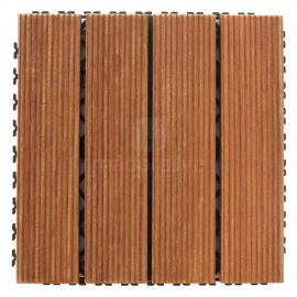 Deck Prático Cumarú Frisado 30x30cm