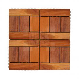 Deck Prático Cumarú Paris 30x30cm (placa) agrupado