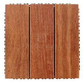Deck Prático Cumarú R-10 Frisado 30x30cm