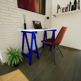Escrivaninha Prática MDP Azul Del Rey