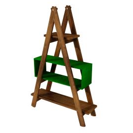 Estante Escada Decor MS Colors - Verde Folha
