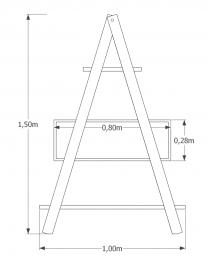 Estante Escada Decor MS Colors - Verde Folha - medida