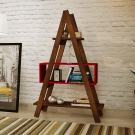 Estante Escada Decor MS Colors - Vermelho Tomate Seco