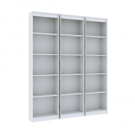 Estante Livreiro Modular Plus Branco 3 estantes