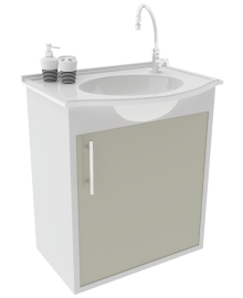 Gabinete para WC com Lavatório ArteFibra - Cinza Itália