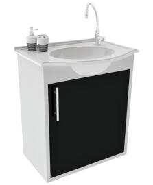 Gabinete para WC com Lavatório ArteFibra - Preto