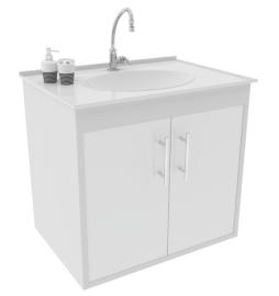 Gabinete WC c/ Lavatório ArteFibra - Branco (Mod. 303)