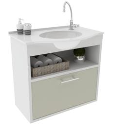 Gabinete WC com Lav. ArteFibra - Cinza Itália (Mod. 202)