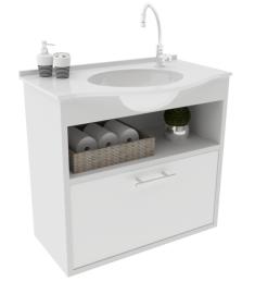 Gabinete WC com Lavatório ArteFibra - Branco (Mod. 203)