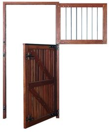 Porta Baia c/ grade Premium - Angelim Vermelho