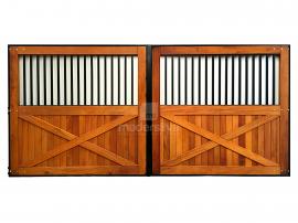 Portão de Ferro e Madeira Modelo MS 10  - 2,00m x 3,00m