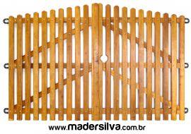 PORTÃO DE MADEIRA MS 080 - 4,00M X 1,90M