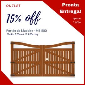 Portão de Madeira MS 500 - 4,00m X 2,15m
