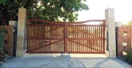 Portão de Madeira - MS 500 - instalado